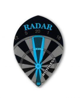 Aleta dardos Ruthless 05 oval negra radar