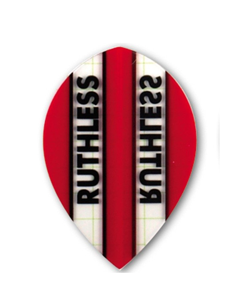 Aleta dardos Ruthless 08 oval roja