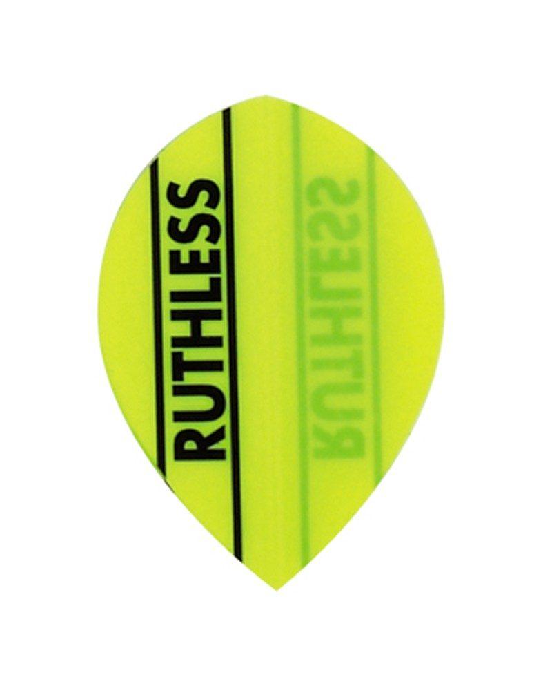 Aleta dardos Ruthless 12 oval amarilla