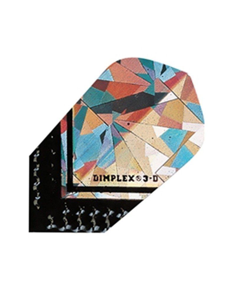 Aleta dardos Dimplex 3d slim negra