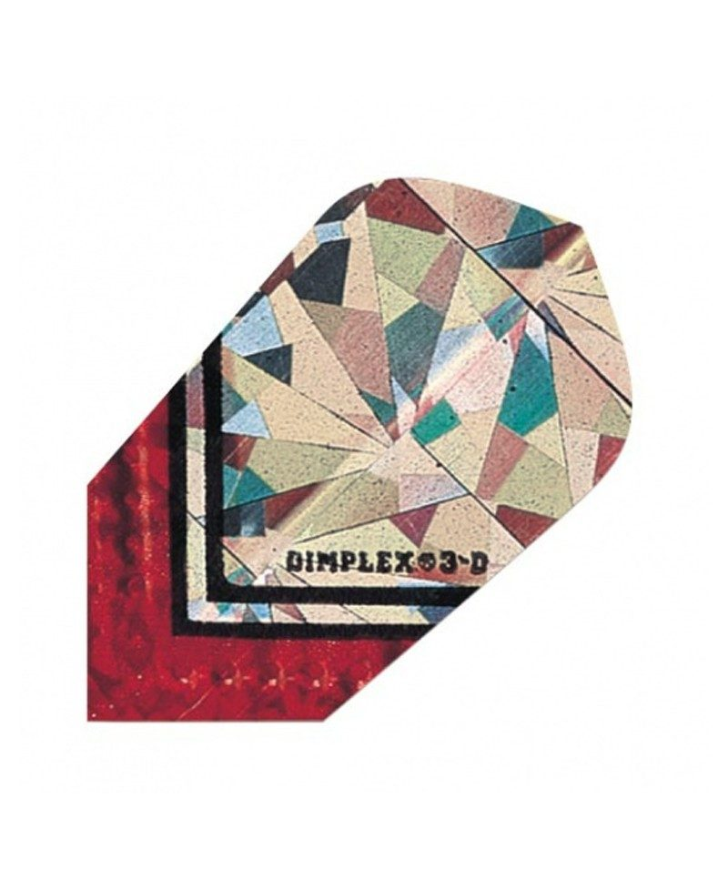 Aleta dardos Dimplex 3d slim roja