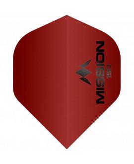 Mission darts flight Logo 150 red STD