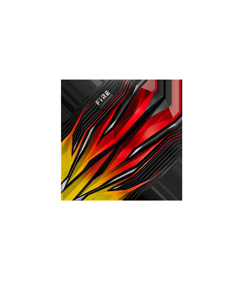 Aleta Harrows darts Fire 1102 roja/amarilla
