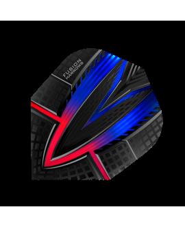 Aleta Harrows darts Fusion 4403 roja/azul