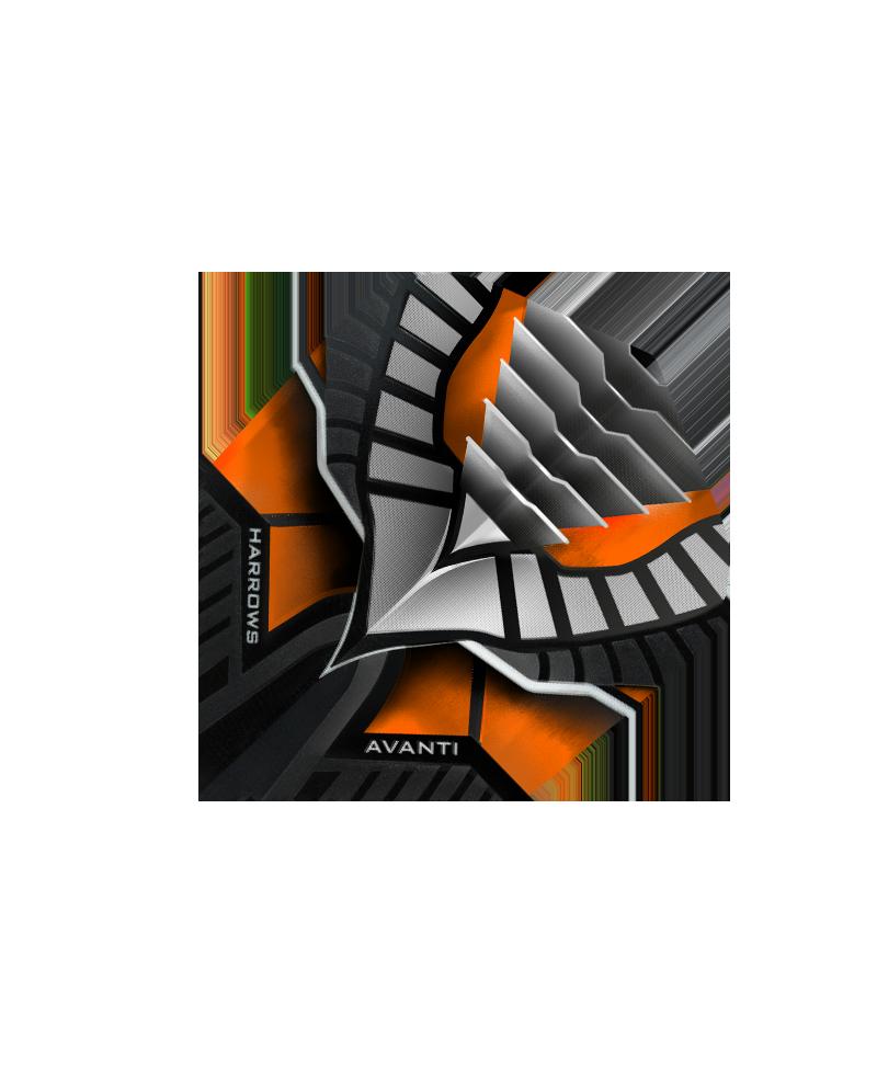Aleta Harrows darts Avanti 7403 naranja