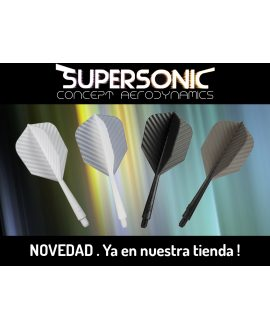Aleta Supersonic 2BA Negra (3) - Aleta Supersonic negra rosca 2BA 3 unidades