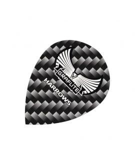 Aletas Harrows darts Graflite 7002 oval gris